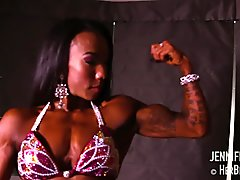 Asian Beauty Flexing Them Biceps