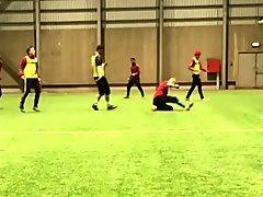 Goalkeeper gets banged