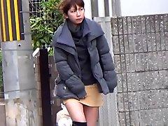 Japanese teen urinating