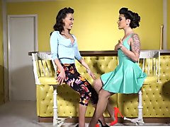 House of latex with Kayla Jane Danger and Kalina Ryu
