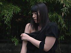Subtitled CMNF Ai Uehara nude outdoors master devotion