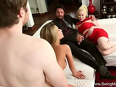 kinky Housewife very first Time swinging Sex
