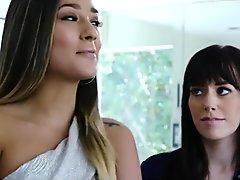 ebony lesbian strap on - lesbians caught act - lesbian college anal strapo