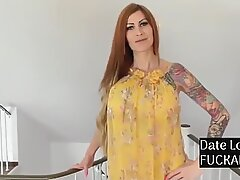 My tatted mommy Takes buttfuck Creampie from My Best Friend